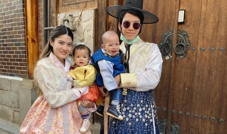 ป๊อก-มาร์กี้'พร้อมลูกๆกักตัวอยู่บ้าน 14วันหลังกลับจากเกาหลี